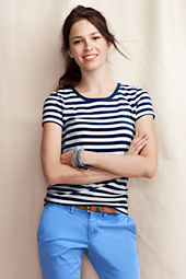 Women's Striped Crewneck Tee