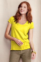 Women's V-Scoop Linen Cotton Tee