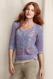 Women's Open Stitch Cable Pullover