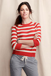 Women's Shrunken Striped Pullover