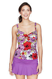 Women's Isla Vista Floral Twist Tankini Top