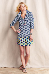Women's Patterned Shirtdress