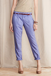Women's Slim Slouch Pleated Oxford Pants
