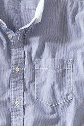 Men's Bold Stripe Poplin Shirt