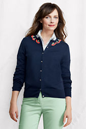 Women's Fine Gauge Supima Embellished Cardigan