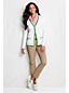 Women's Regular Cotton Pointelle Argyle Cardigan