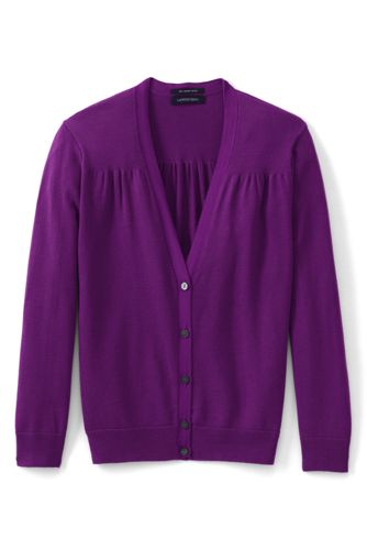 Women's Regular 3-Quarter Sleeve Supima Cotton Cardigan