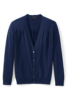 Women's 3-Quarter Sleeve Supima Cotton Cardigan