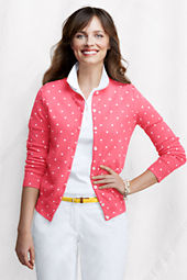 Women's Long Sleeve Print Fine Gauge Supima Cardigan