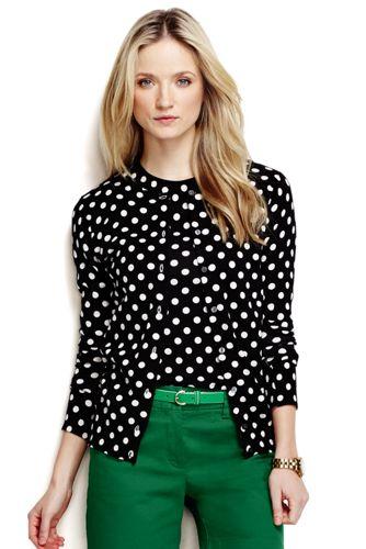 Le Cardigan Supima Imprimé à Motifs Femme, Taille Standard