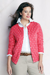 Women's Plus Patterned Supima Fine Gauge Cardigan
