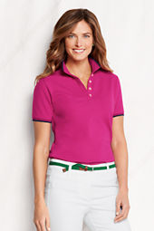 Women's Short Sleeve Pique Tipped Polo Shirt