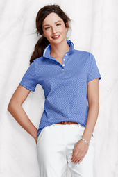 Women's Short Sleeve Tipped Pima Polo Shirt