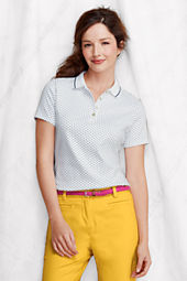 NQP Women's Short Sleeve Tipped Pima Polo Shirt