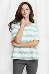 Women's Elbow-sleeve Open Crewneck