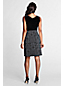 Women's Regular Sleeveless Flocked Print Duet Dress