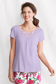 Women's Lace-trim Sleep Top