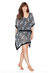 Women's Paisley Chiffon Poncho Cover-up
