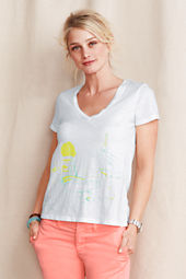 Women's Sailboat V-Neck Tee
