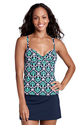 Women's Beach Living Deco Shirred Tankini Top