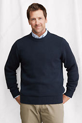 Men's Long Sleeve Cotton Crewneck Sweater