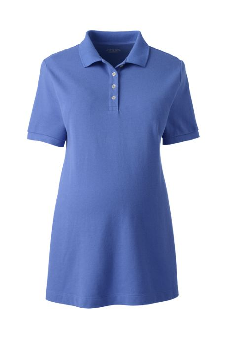 Maternity Short Sleeve Mesh Polo