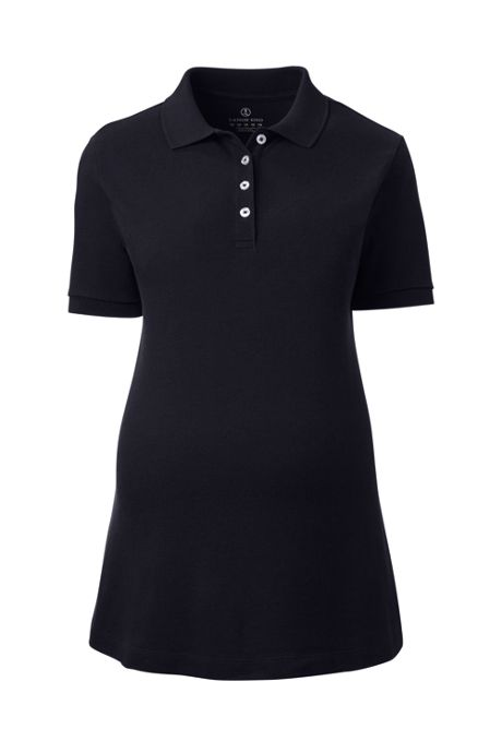 Women's Maternity Short Sleeve Mesh Polo Shirt