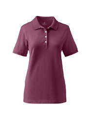 School Uniform Women's Banded Short Sleeve Fem Fit Mesh Polo