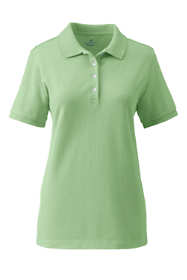 Women's Banded Short Sleeve Fem Fit Mesh Polo