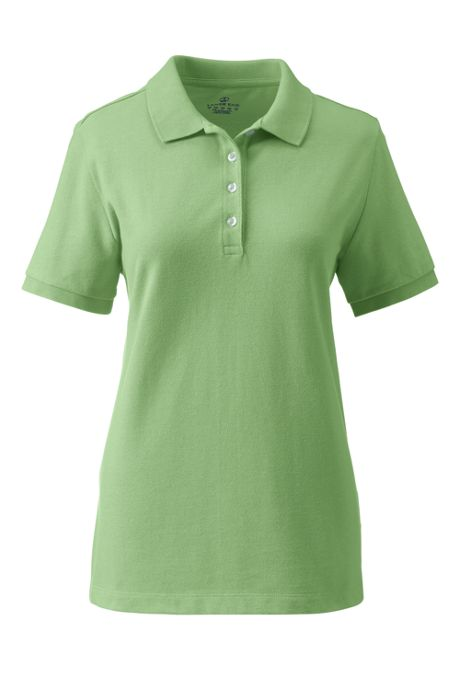 Women's Feminine Fit Banded Sleeve Mesh Polo Shirt