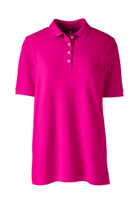Women's Banded Short Sleeve Mesh Polo