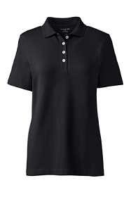 Women's Hemmed Short Sleeve Feminine Mesh Polo