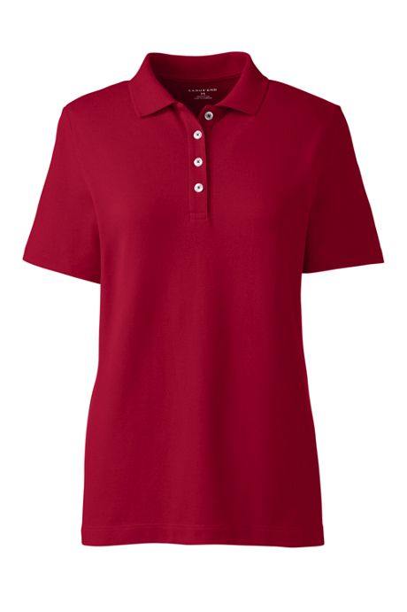 Women's Plus Size Hemmed Short Sleeve Feminine Mesh Polo