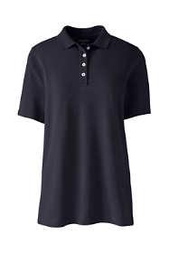 Women's Hemmed Short Sleeve Mesh Polo