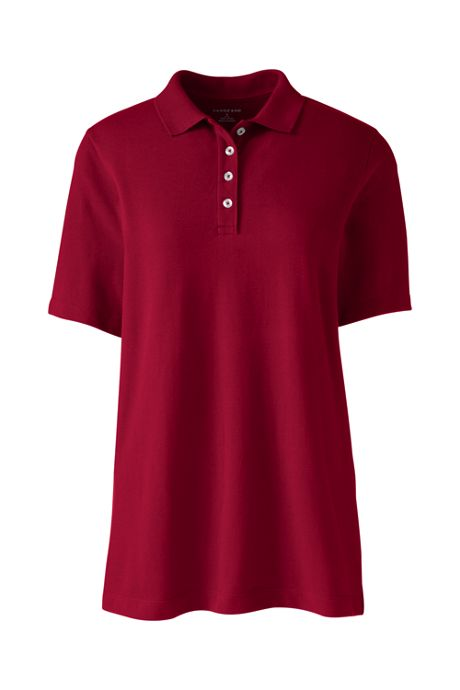 Women's Hemmed Short Sleeve Mesh Polo