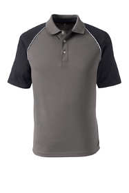 Men's Big Short Sleeve Piped Colorblock Polo Shirt