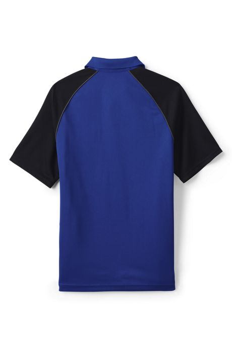 Men's Short Sleeve Piped Colorblock Polo