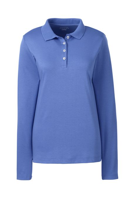 Women's Long Sleeve Feminine Fit Pima Polo Shirt