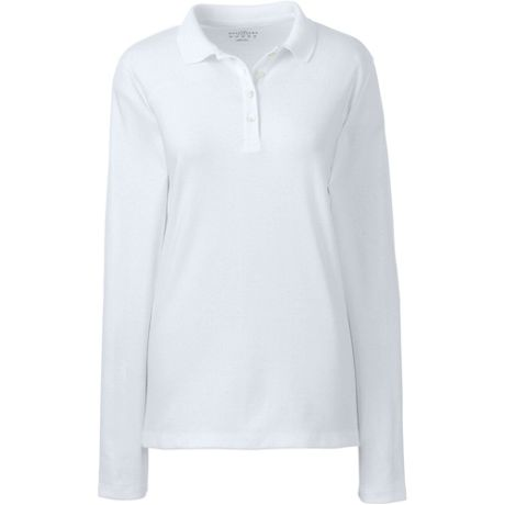 Women's Long Sleeve Feminine Fit Pima Polo Shirt