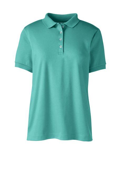 Women's Custom Logo Banded Short Sleeve Pima Cotton Polo Shirt