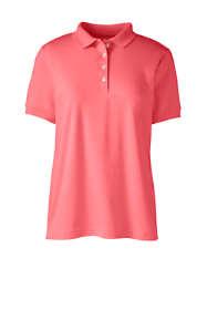 Women's Plus Size Short Sleeve Feminine Fit Banded Pima Polo Shirt
