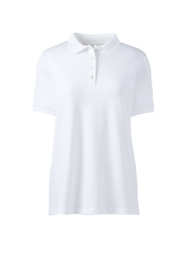 School Uniform Women's Plus Size Short Sleeve Feminine Fit Banded Pima Polo Shirt