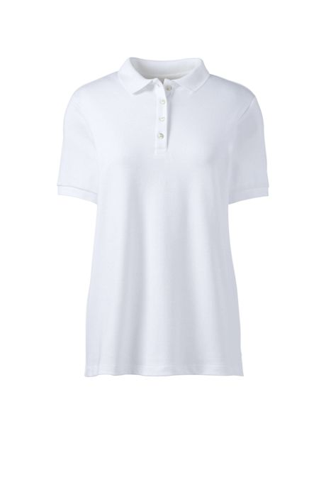 School Uniform Women's Short Sleeve Feminine Fit Banded Pima Polo Shirt