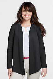 Women's Long Sleeve Angled Cardigan