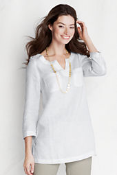 Women's Bracelet Sleeve 2-pocket Linen Tunic