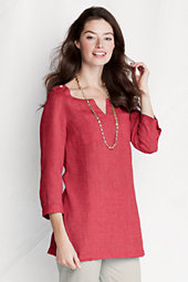 Women's Two-pocket Linen Tunic