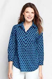 Women's Three-quarter Sleeve Cotton Lawn Tunic