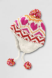 Girls' Heart Peruvian Hat