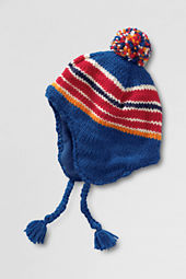 Boys Intarsia Hat with Tassels