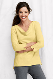 Women's Starfish 3/4-sleeve Lightweight Drapeneck Shirt